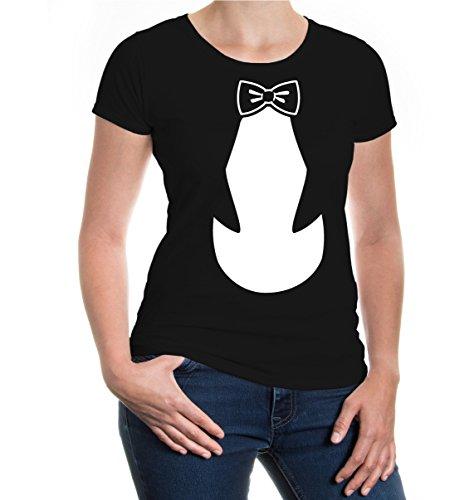 Girlie T-Shirt Penguin-Dress Black