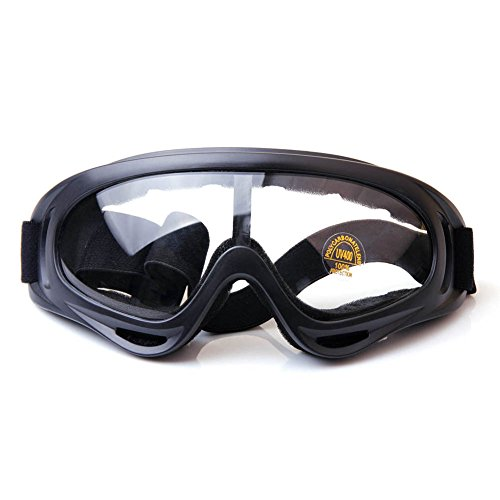 Binboll Adjustable UV Protective Outdoor Glasses Motorcycle Goggles Dust-proof Protective Combat Goggles Military Sunglasses Outdoor Tactical Goggles to Prevent Particulates and Fog in Colorful