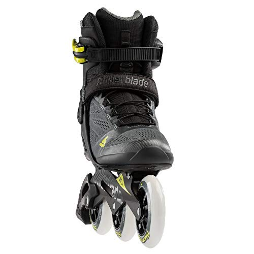 Rollerblade Macroblade 100 3Wd Men's Adult Fitness Inline Skate, Anthracite/Neon Yellow, Medium 11 ()