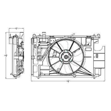 Radiator A/c Motor Fan (TYC 623150 Toyota Prius c Replacement Dual Radiator and Condenser Fan Assembly)