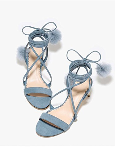 Bow Lace Shoes Mesh And Ankle High Crystal Shoes Single Lace Bow Wedding Banquet Boots Shoes Breathes Ladies Thin Tie Heels Heel Blue Shoes Fashion And Shoes w5IAtt