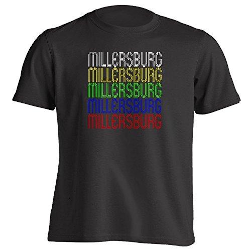 - Vintage Style Retro Hometown - Millersburg, PA 17061 - Black - X-Large - Souvenir - Unisex - T-Shirt