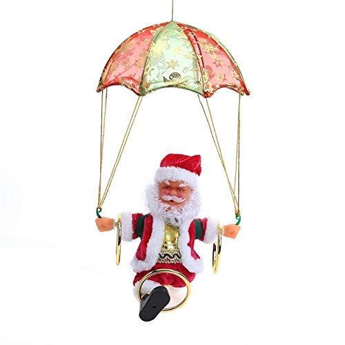 - Pendant Drop Ornaments - Christmas Santa Claus Plush Doll Electric Parachute Children Gift Creative Xmas Tree Hanging - Felt Clauses Fabric Maxora Artificial For Tree Music Christmas Array
