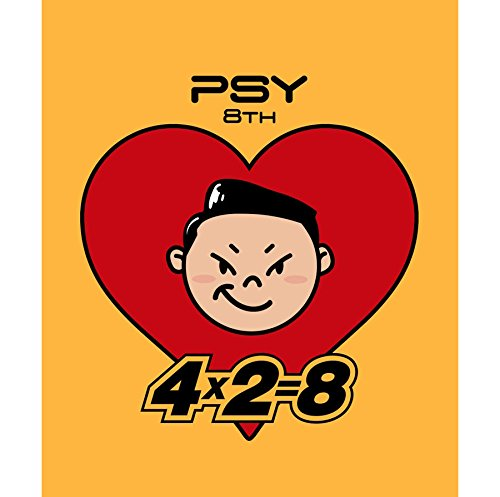 PSY [4X2=8] 8th Album CD+48p Booklet+Sticker+Tracking Number K-POP SEALED