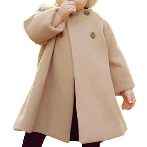 Ownsig Niños y bebés Otoño Invierno de Moda Abrigo Largo Cálido Chaqueta de Moda Linda Niños Ropa Chica Trajes Casuales...