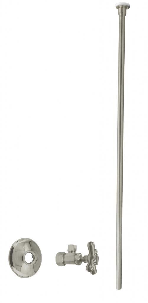 Westbrass D105KFHX-07 Toilet Kit 5/8'' 3/8'' OD x 20'', Flat Head, Satin Nickel by Westbrass