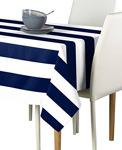Navy & White Cabana Stripe Milliken Signature Tablecloths - Assorted Sizes (60