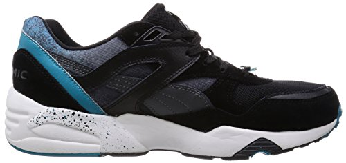 Puma R698 Splatter Mens Leather & Synthetic Trainers Black - 46 EU