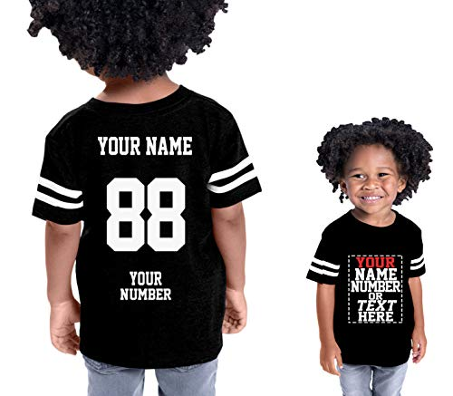 Custom Cotton Jerseys for Toddlers and Kids - Make Your OWN Casual Outfit Black