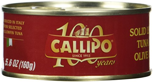 Italian Canned Tuna in Olive Oil Callipo 5.6 Oz (Pack of 4) (Genova Tuna)