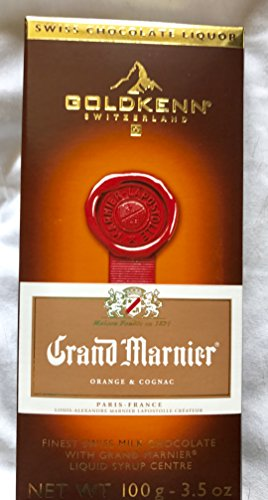 Goldkenn Swiss Chocolate Liquid Center 3.5 oz Gourmet Bar Grand Marnier (Grand Marnier Liqueur)