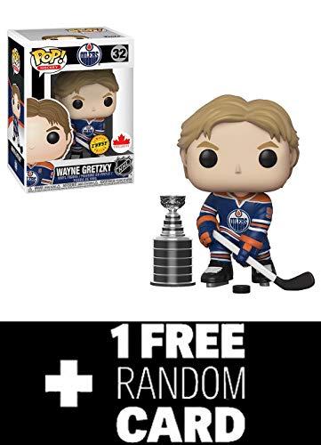 POP Funko NHL: Wayne Gretzky Edmonton Oilers Home Jersey Grosnor Exclusive (Chase) + 1 Random NHL Trading Card ()