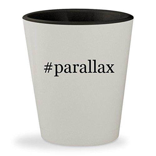 #parallax - Hashtag White Outer & Black Inner Ceramic 1.5oz Shot Glass