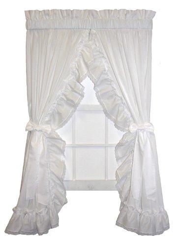 A.L. Ellis Madelyn Ruffled Priscilla Window Curtain with ...