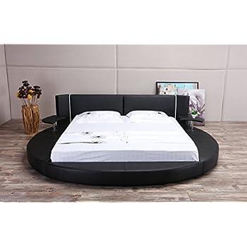 Oslo X Round Bed Queen Size (Black)