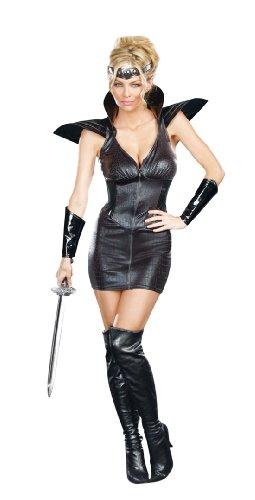 Dreamgirl Warrior Of Darkness, Black, (Horror Warrior Black Costumes)