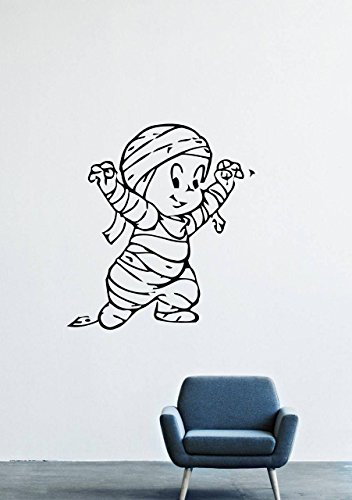 Casper Mummy (Casper Ghost Wall Decals – Vinyl Casper Ghost Stickers For Men Kids – Stickers Cartoon For Car Truck Windshield Door Window – Removable Looney Tunes Kitchen Living Room Home Decor Wall Decals GMO7866)