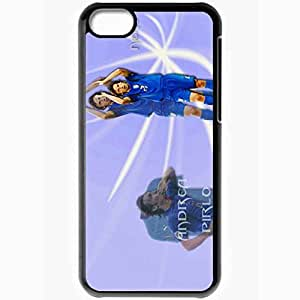 Personalized iPhone 5C Cell phone Case/Cover Skin Andrea Pirlo Italy Italian Football Federation Andrea Pirlo AC Milan Football Black