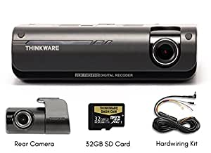 THINKWARE F770 2-Channel Dash Cam | Front and Rear | 1080P HD Dash Cam with Sony Exmor Sensor + Built-in WiFi + Super Night Vision - 32GB SD Card | Hardwiring Kit Included