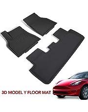Tesla Model Y Floor Mats 3D Three-Layer All-Protection Waterproof Floor Liner Fits Tesla Model Y 2020 2021