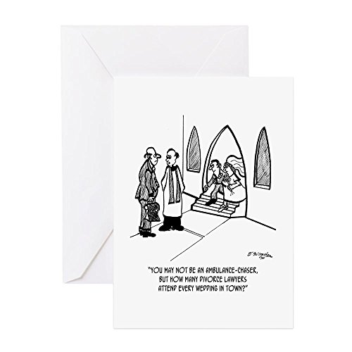 Attorney Greeting Cards - CafePress - Divorce Lawyer Attends All Weddings - Greeting Card, Note Card, Birthday Card, Blank Inside Matte