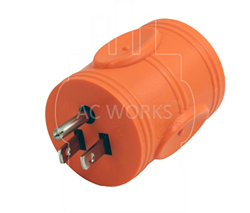AC WORKS [AD515L1420] 15Amp Household Plug NEMA 5-15P to Generator 4 Prong 20Amp L14-20R (Two hots bridged) by AC WORKS (Image #2)