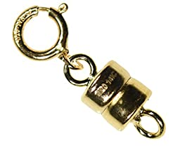 uGems Magnetic Clasp 4.5mm Gold Filled Converter for Necklaces Closed Loops Strong Tiny (Qty=1)