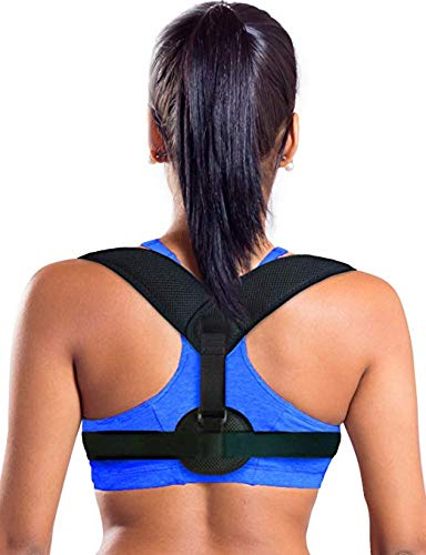 TOMIYA Figure 8 Posture Corrector Back and Shoulder Support Brace for Women & Men, Helps to Improve Posture, Prevent Slouching and Relieve Pain
