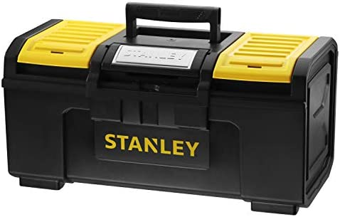 Stanley Basic 179217 Gereedschapskist 49 x 27 x 24 cm gereedschapsorganizer met snelsluiting zware uitvoering trolley met ergonomisch handvat van bimateriaal