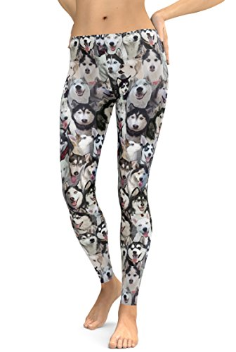 Siberian Husky Photo Leggings, Huskies, Sled Dogs (Small)