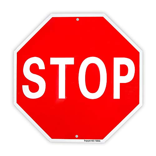 (Stop Sign Street Slow Warning Reflective Signs 12
