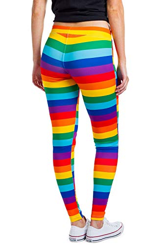cb4d1474f06a2 Jual Striped Rainbow Leggings - Neon Rainbow Tights for Women ...