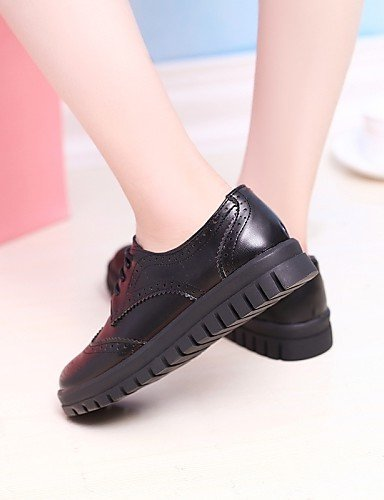 Leatherette Njx Office Uk5 Nero 5 5 Toe Women us7 Round Black Hug Casual White Work Eu38 Heel Round Cn38 Dressy Shoes tBOrqB