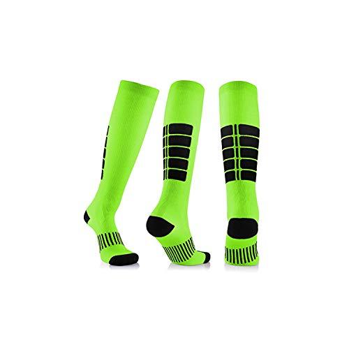 1 Pair Antifatigue Unisex Compression Socks Knee High Stockings,green,L/XL (50-52)