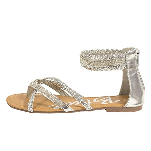 Blue Womens Lanny-4 Buckle Summer Sandals Lanny-4-silver jonb6MZH