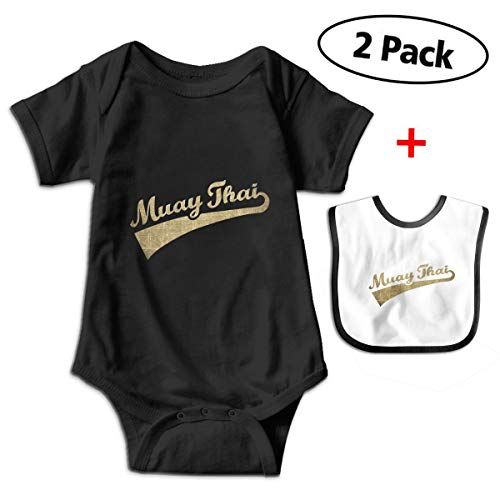 Gold Muay Thai Newborn Baby Funny Cotton Bodysuits Rompers Outfits