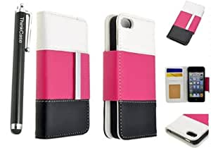Case for iphone 4,case for iphone 4s, leather case for iphone 4,Thinkcase IPHONE 4 4G 4S Case Flower PU Leather Wallet Cover Case 09#