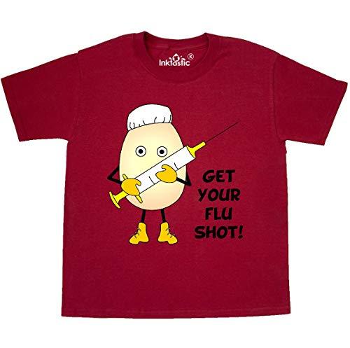 Youth T-shirt Shot (inktastic - Egghead Nurse Flu Shot Youth T-Shirt Youth Small (6-8) Red 2c577)