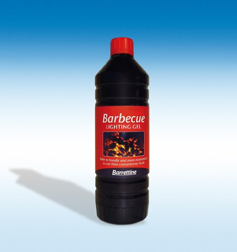 Barrettine Barbecue Lighting Gel 1L **SAFER THAN CONVENTIONAL FLUIDS**