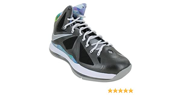 newest 9387d 5d4de Amazon.com   Nike Mens Lebron X Prism Black Stata Grey 541100-004    Basketball