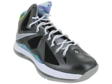 newest 0c995 58798 Amazon.com   Nike Mens Lebron X Prism Black Stata Grey 541100-004    Basketball