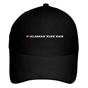 Idakoos I Love Alaskan Klee Kais Linear Baseball Cap Black 5