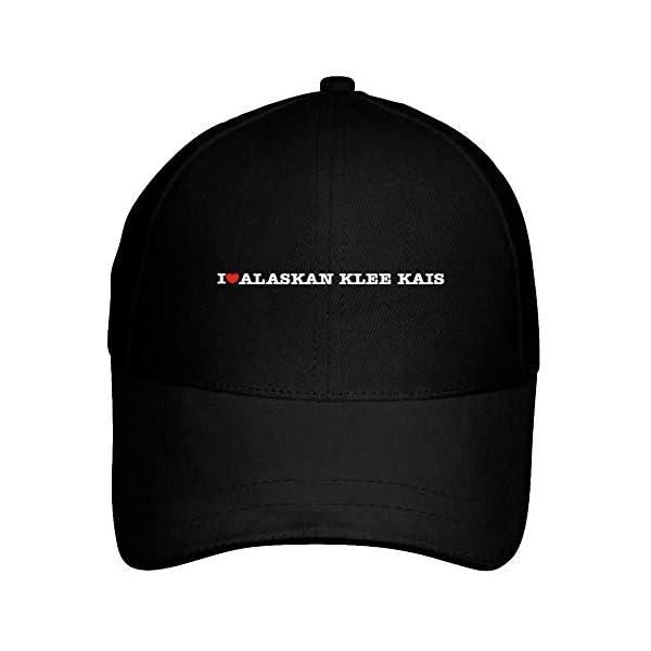 Idakoos I Love Alaskan Klee Kais Linear Baseball Cap Black 1