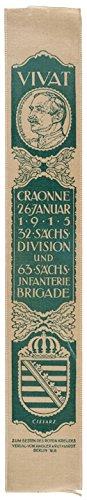 1915 German Vivat! Silk Ribbon, Choice Mint. GREEN