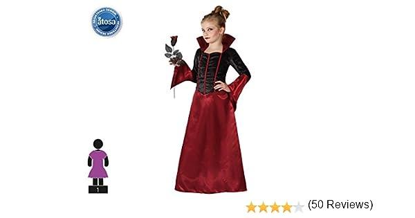 Atosa-22747 Vampiro Disfraz Vampiresa, Color Morado, 7 a 9 años ...
