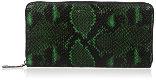 Jacob Block - Marc Jacobs Block Letter Snake Standard Continental Wallet, Green Snake Multi, One Size