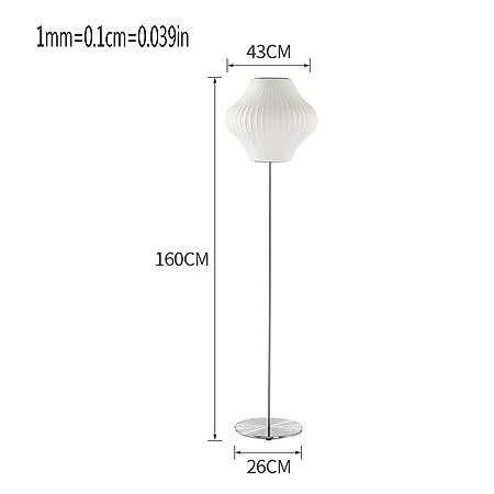 FDOI Lámpara de pie de Seda Pantalla de Tela Japonesa Dormitorio ...