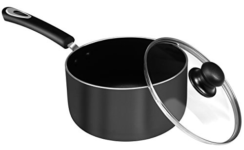 Utopia Kitchen 3 Quart Premium Aluminum Alloy Saucepan with Lid - 8 Inches - Riveted Handle - Multipurpose Use for Home Kitchen or Restaurant by Utopia Kitchen (Image #2)
