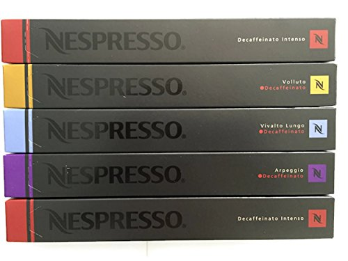 50 Nespresso OriginalLine Capsules: Decaffeinated Mixed Variety - 50 Count