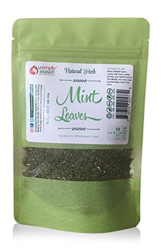 Mint Leaves, Dried, Cut & Sifted, 2 Oz | USimplySeason